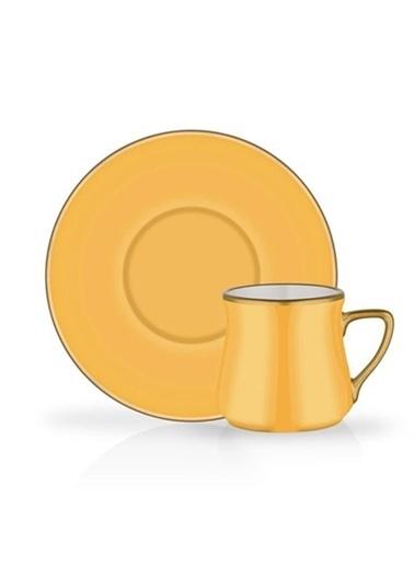 Glore Türk Kahvesi Set 6'Lı Sarı Renkli